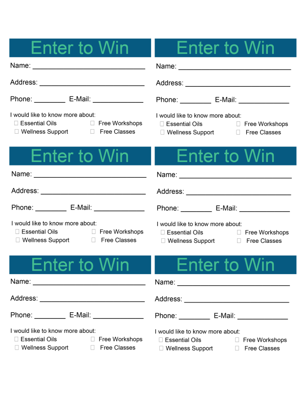 enter to win contact cards