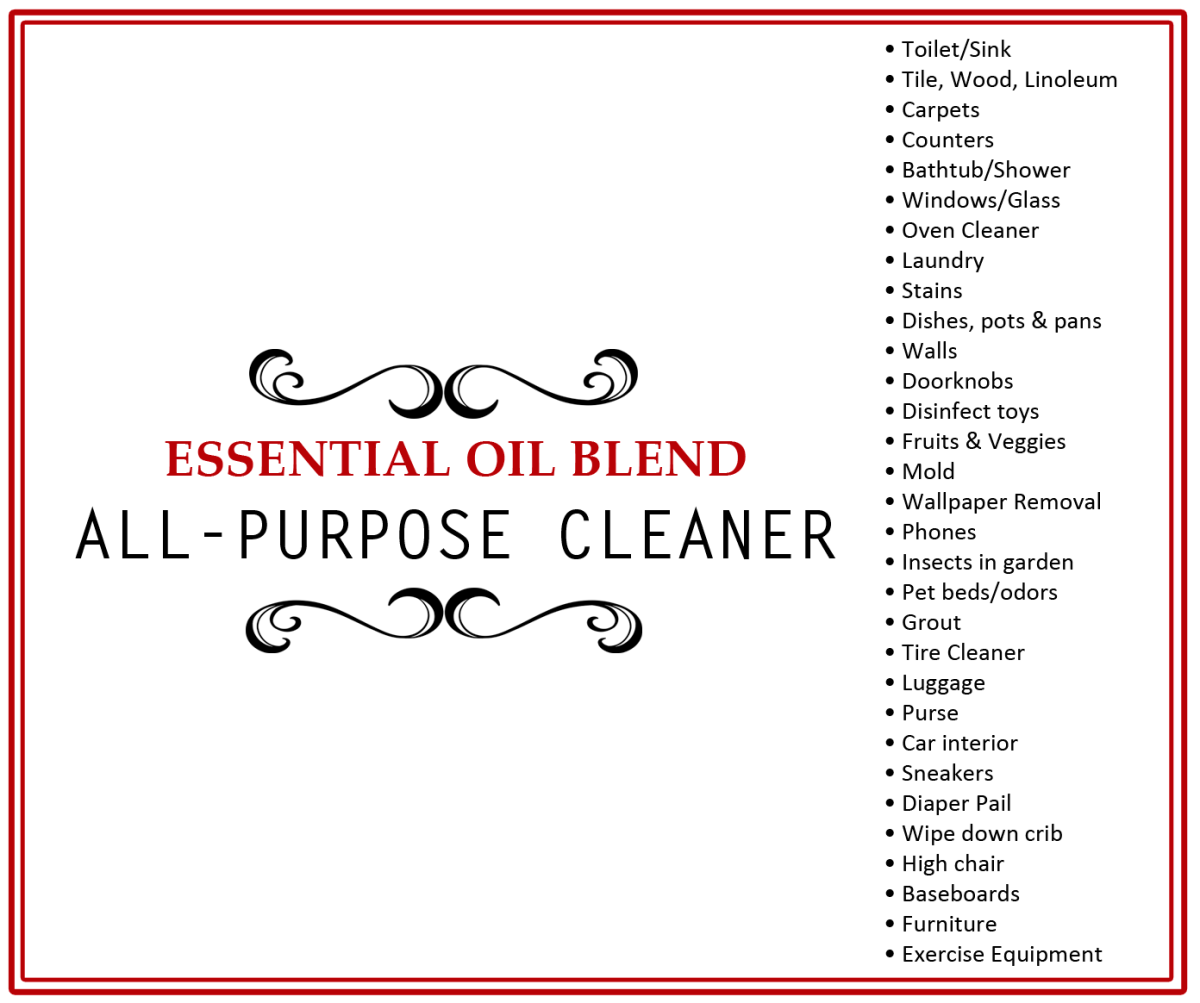 All Purpose Cleaner Label The Oil Posse