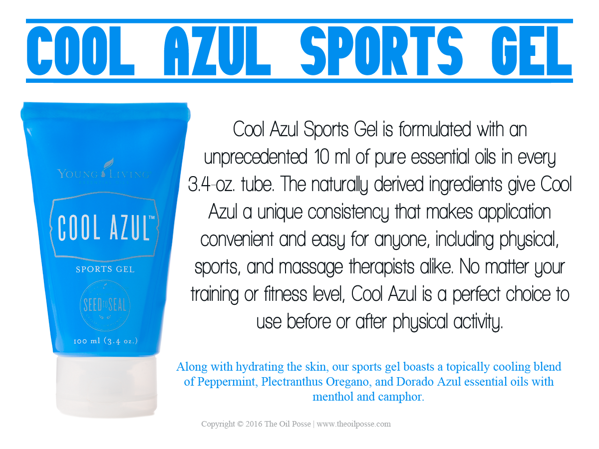 New Card: Cool Azul Sports Gel | The Oil Posse