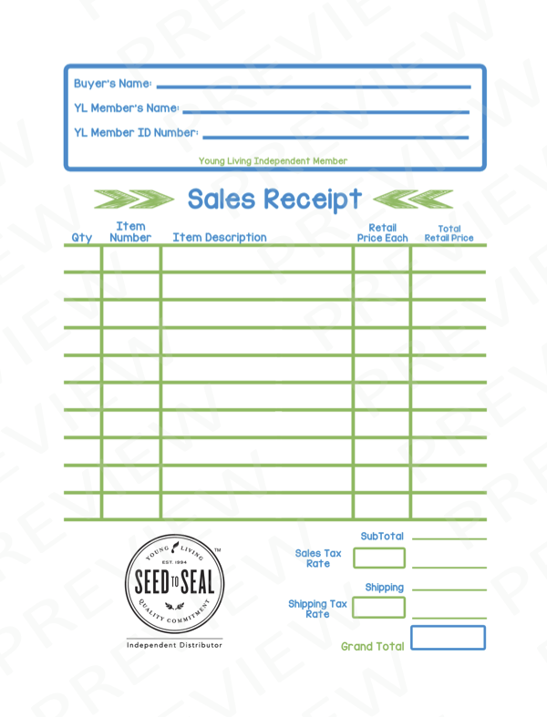 sales receipt | the oil posse, Invoice templates