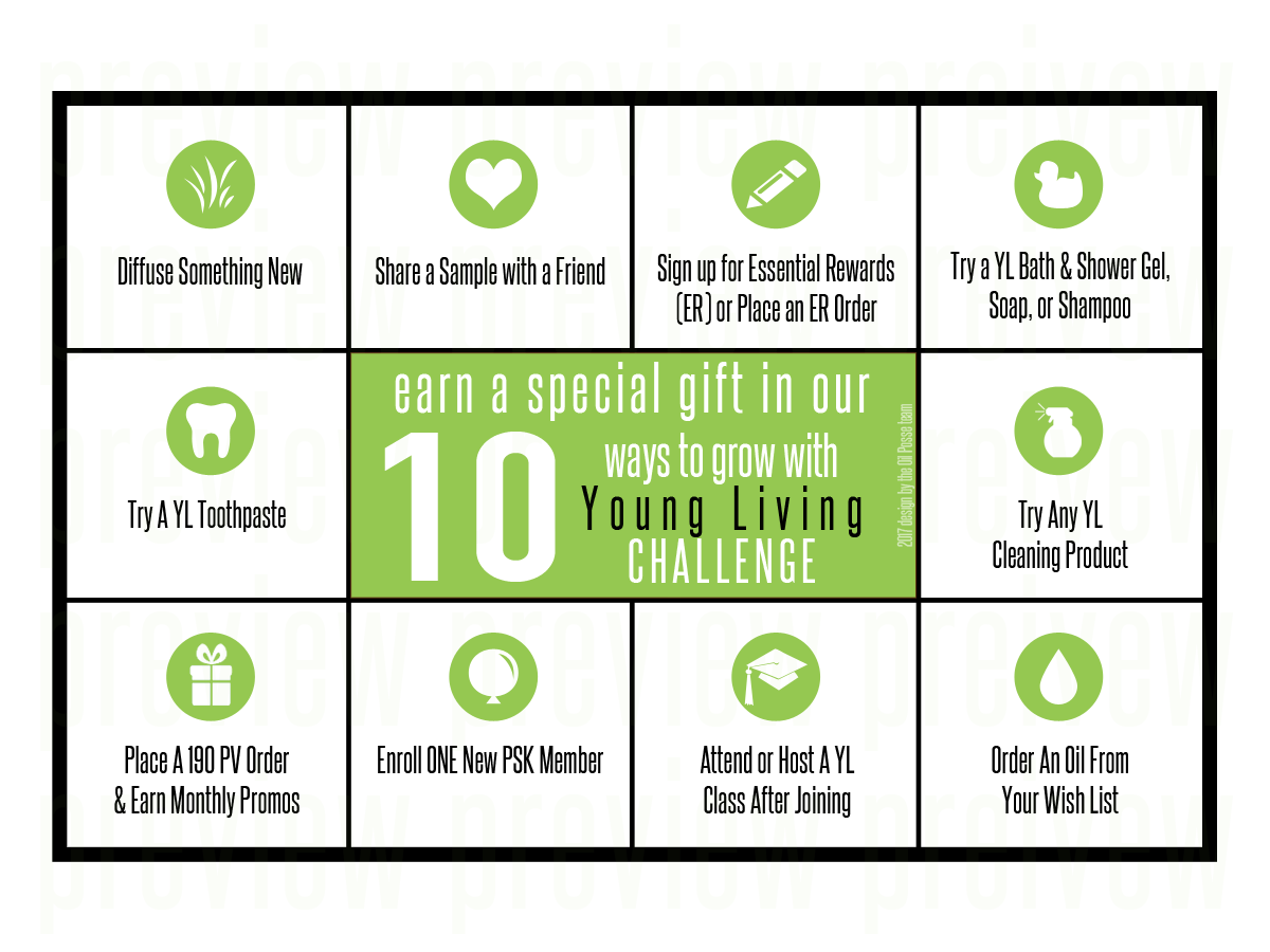 Punch Card: Grow with YL | The Oil Posse