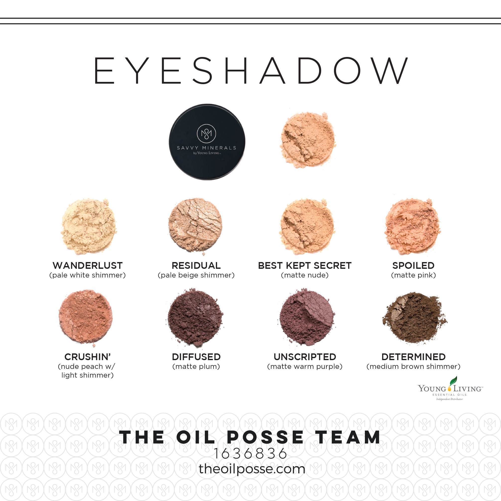 Savvy minerals cosmetics by yl the oil posse savvy eyeshadow geenschuldenfo Gallery