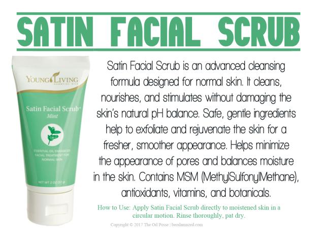 Young living essential oil mint facial scrub
