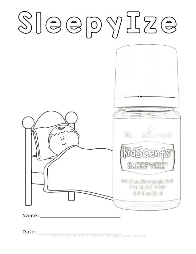 Five KidScents Coloring Pages