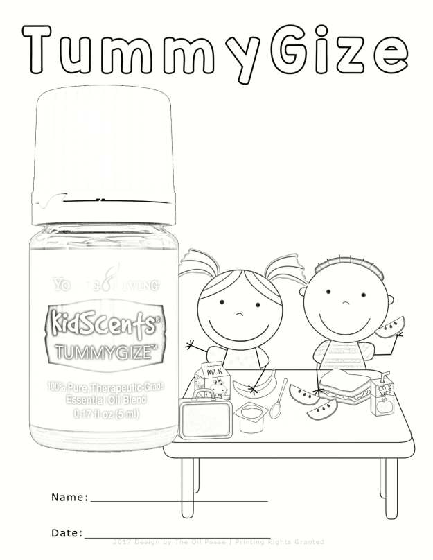 Five KidScents Coloring Pages | The Oil Posse